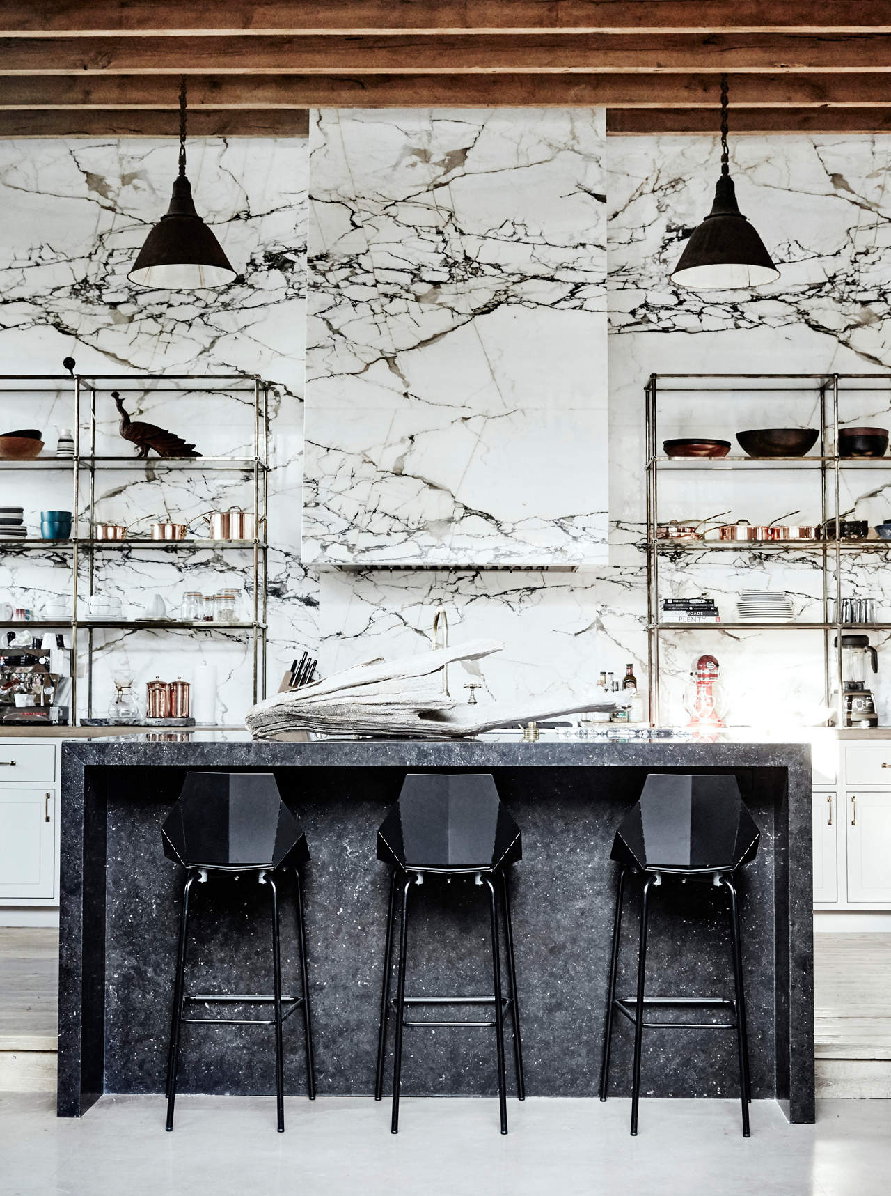 Denise Vasi kitchen with marble