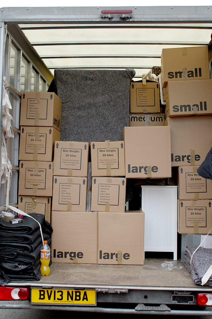 Movingeverywhere Manchester moving removals half filled truck