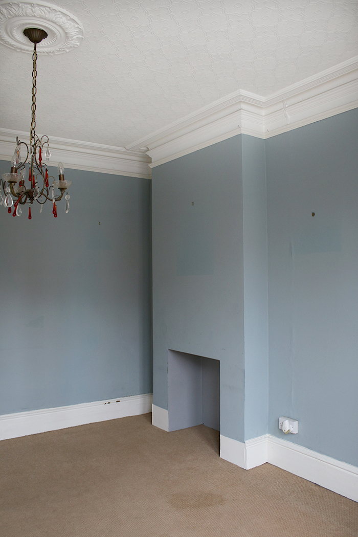 Check out our empty room tour in our Victorian house including our dining room with offset chimney breast