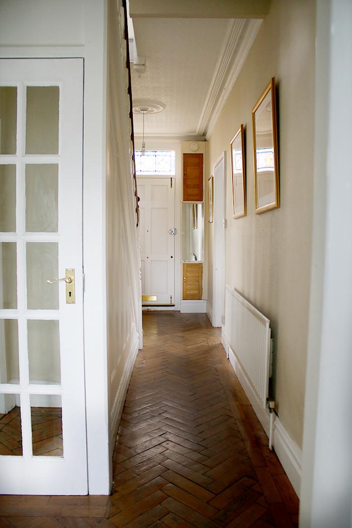 Victorian hallway with parquet flooring