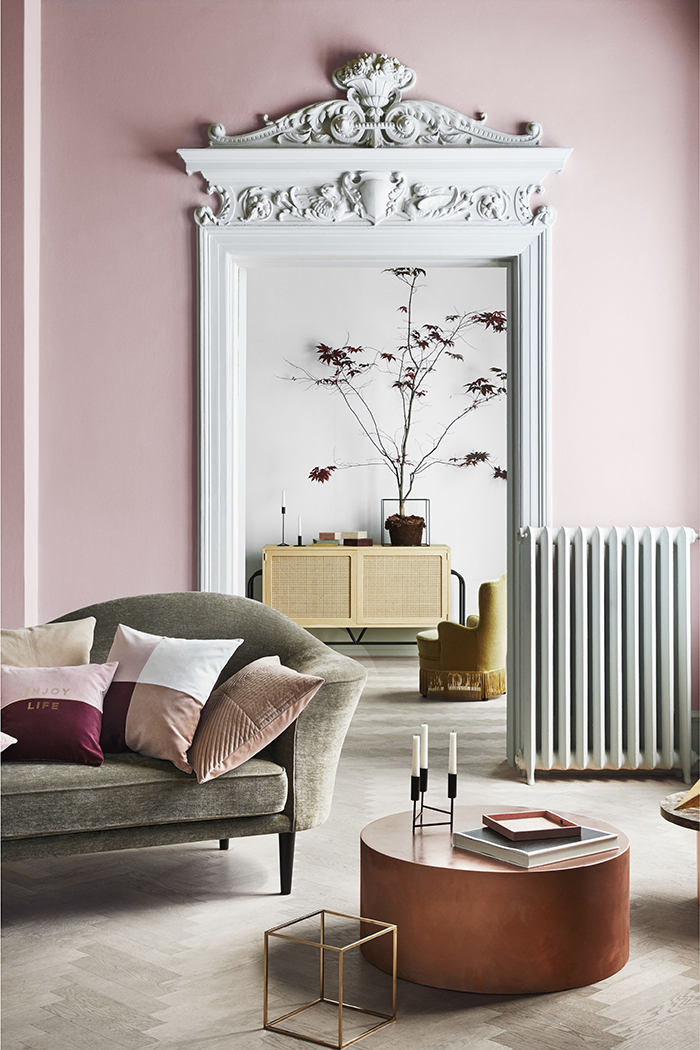 H&M Home Spring Colour Trends 2018 featuring blush pink