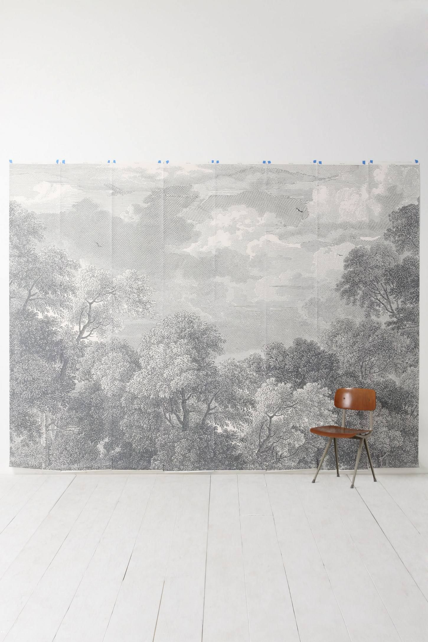 Anthropologie Etched Arcadia Mural