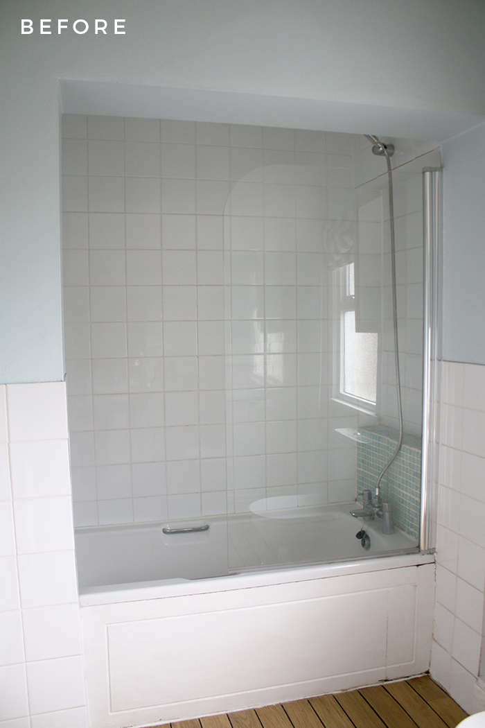 Take a look at our bathroom before we tweaked it to suit our tastes a little more