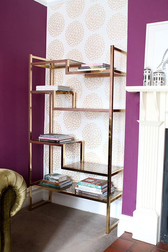 Shelf Styling Tips - Start with books and magazines