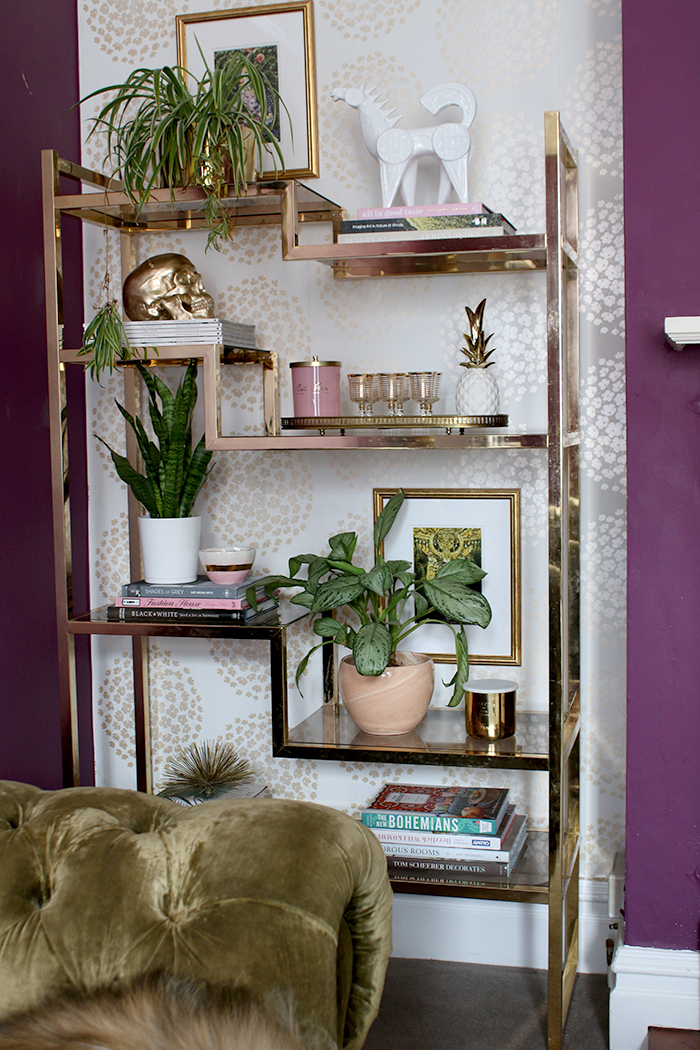 shelving unit styling tips