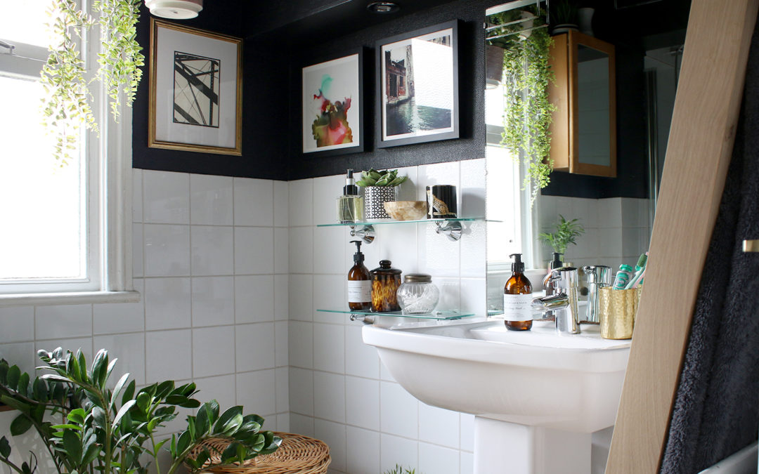 My Boho Glam Black Bathroom Budget Refresh