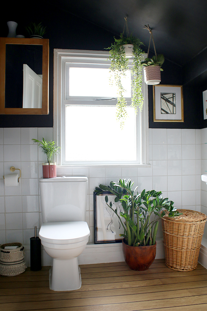 A look at my boho glam black bathroom makeover over a budget!