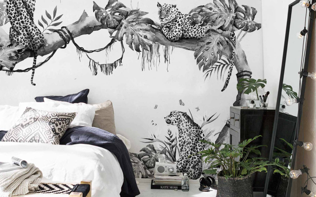 Are Wall Murals the New Wall Paper? 12 Monochrome Murals I'm Loving Right Now