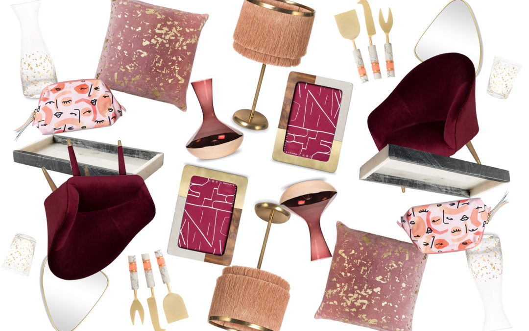 The Sweetest Thing: Berry Blush and Gold Picks from Oliver Bonas