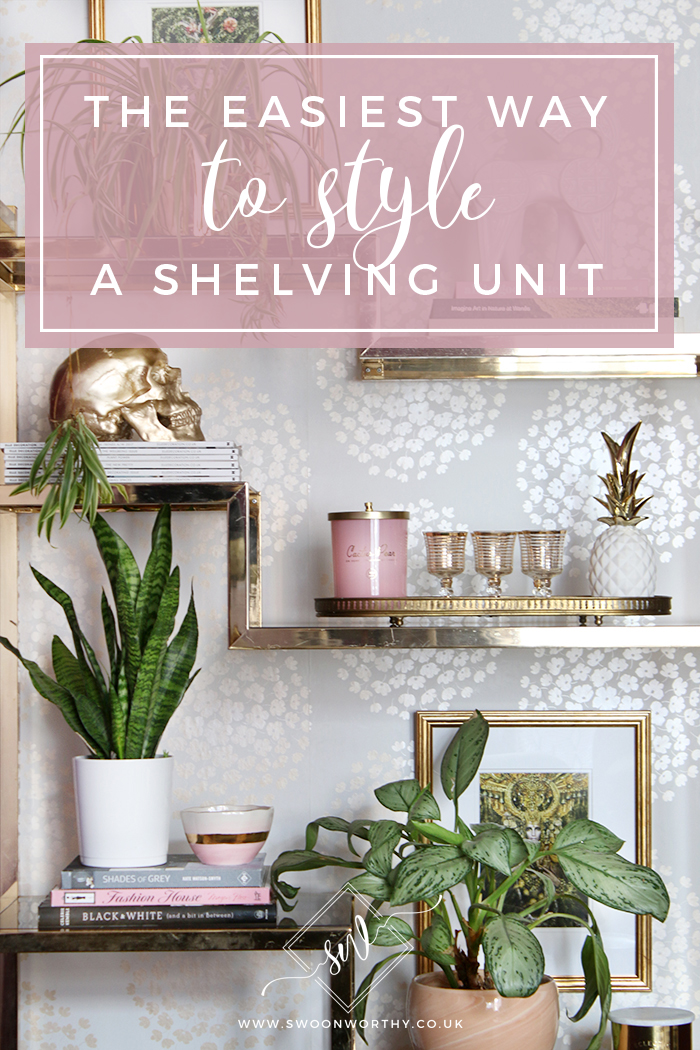 The Easiest Way to Style a Shelving Unit