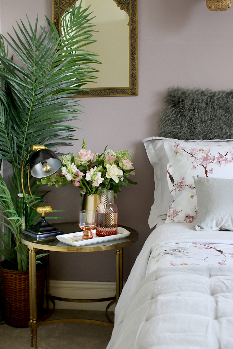 Learn how to create the perfect guest bedroom by having fresh water by the bedside.
