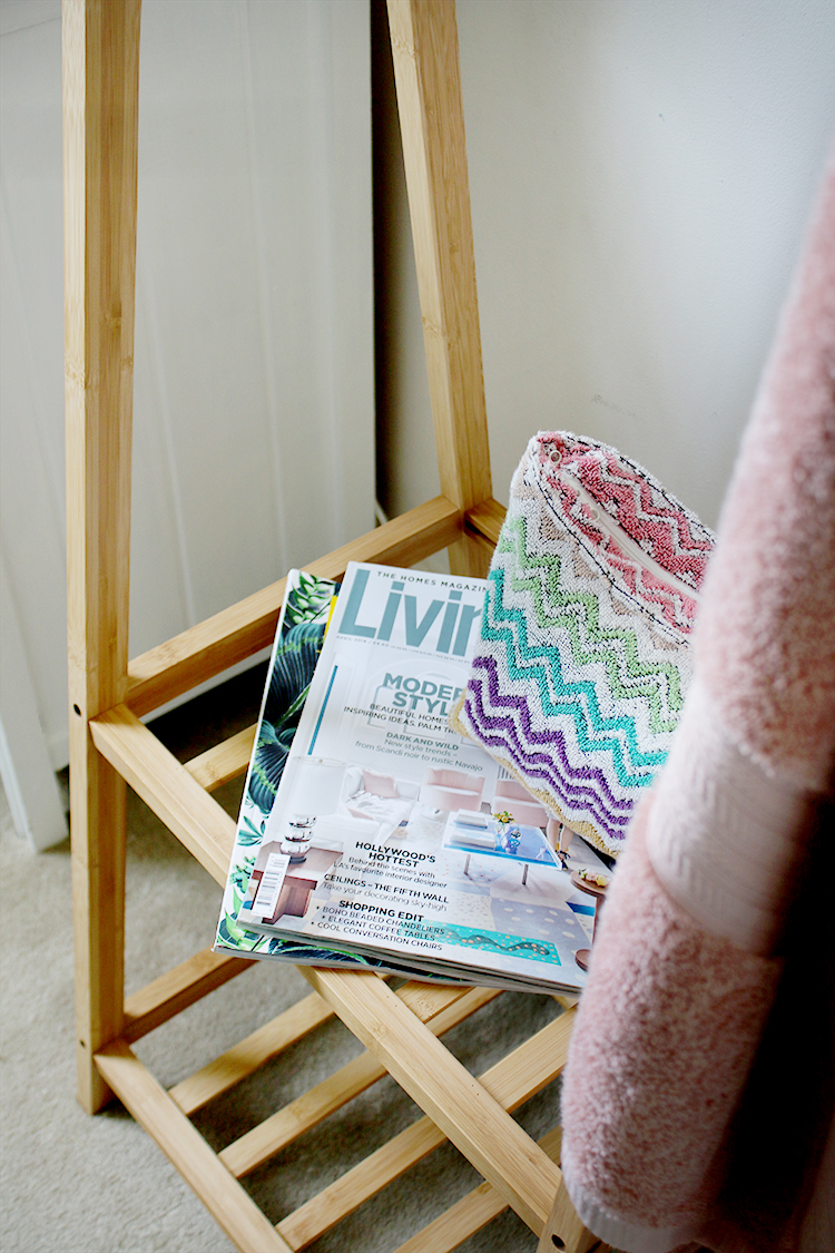 Find out how to create the perfect guest bedroom by adding magazines and toiletries