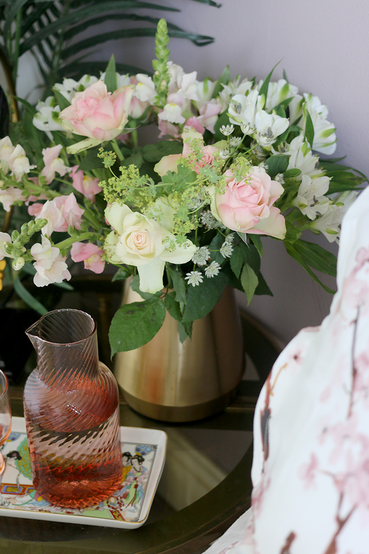 Adding fresh flowers is one of my favourite ways to create the perfect guest bedroom