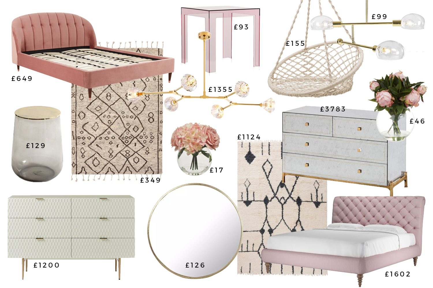 1 Glam Bedroom 3 Different Budgets Swoon Worthy