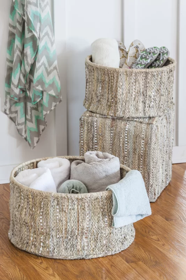 Storage baskets from Wayfair