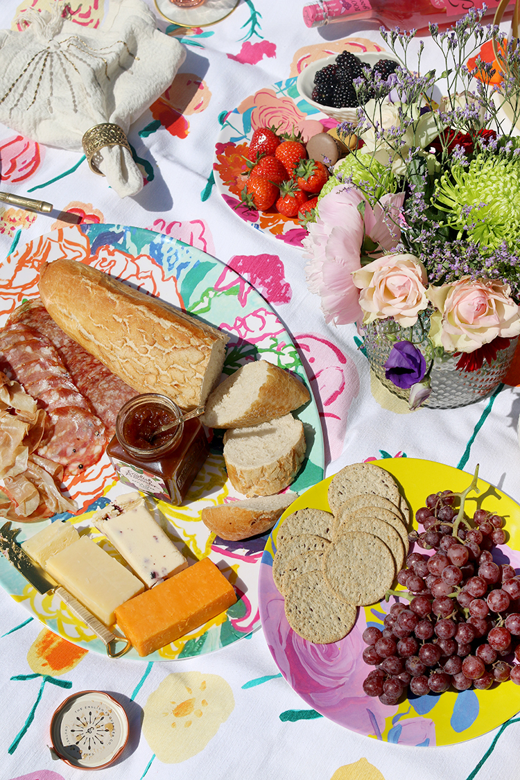 Summer garden party styling food