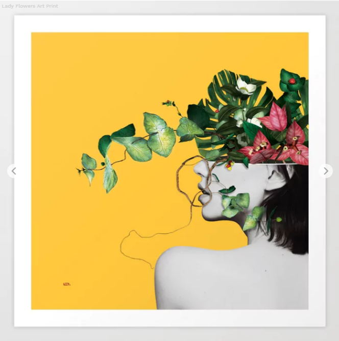 Lady Flowers Art Print by linco7n Society6