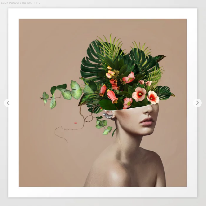 Lady Flowers llll Art Print by linco7n Society6