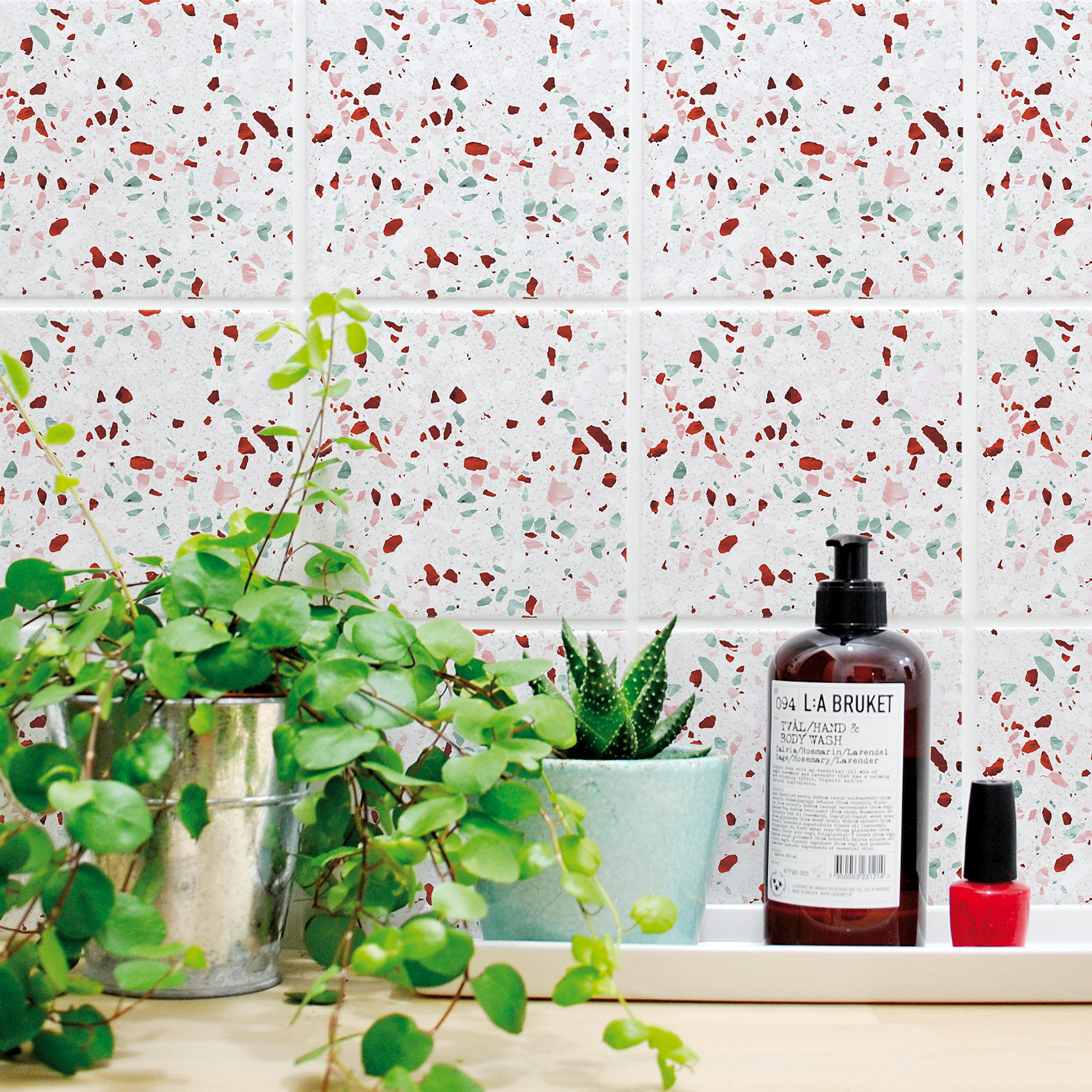 Terrazzo Tile stickers from Etsy