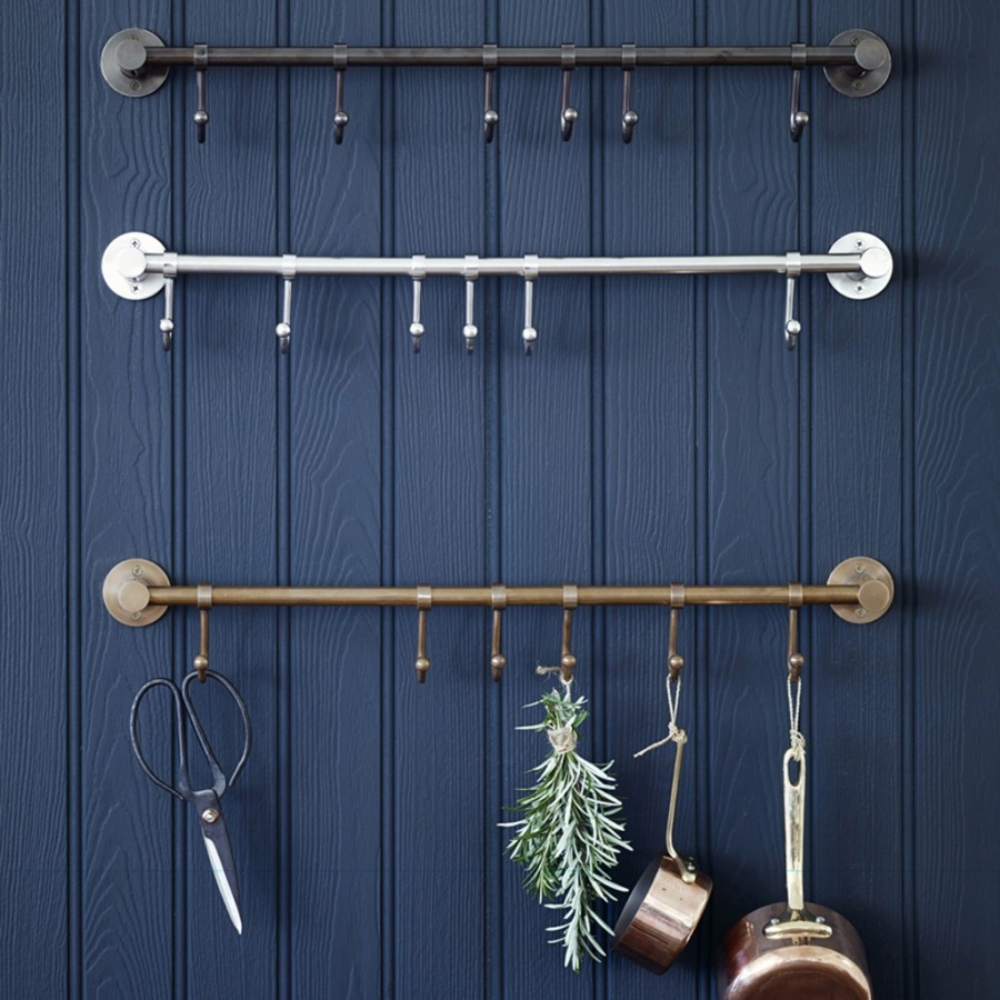 brass hook rails from Rowen & Wren.