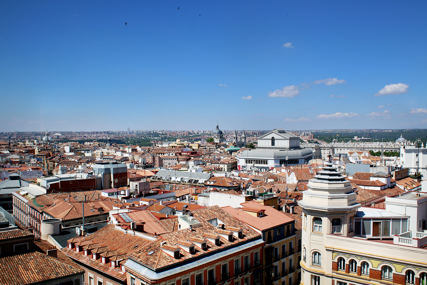 Get the perfect bird's eye of Madrid from the top of El Corte Inglés de Callao.