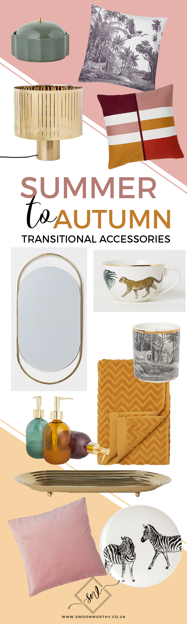 Summer to Autumn Transitional Accessories for Home