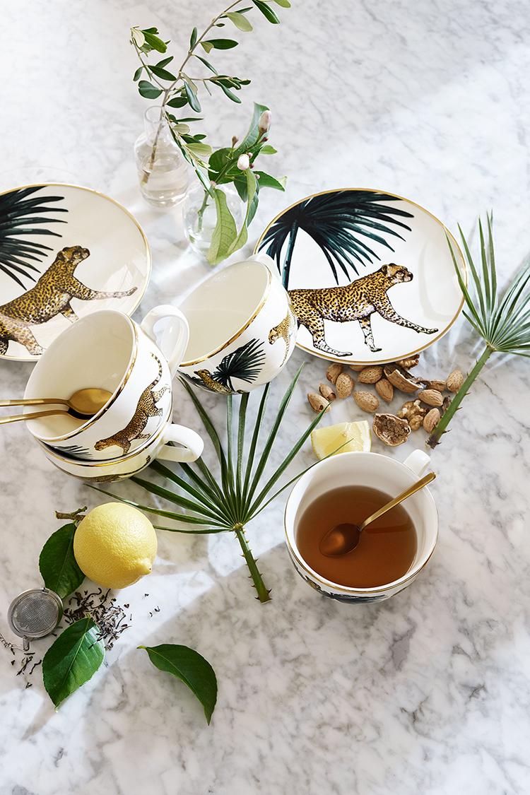 H&M Home leopard plates