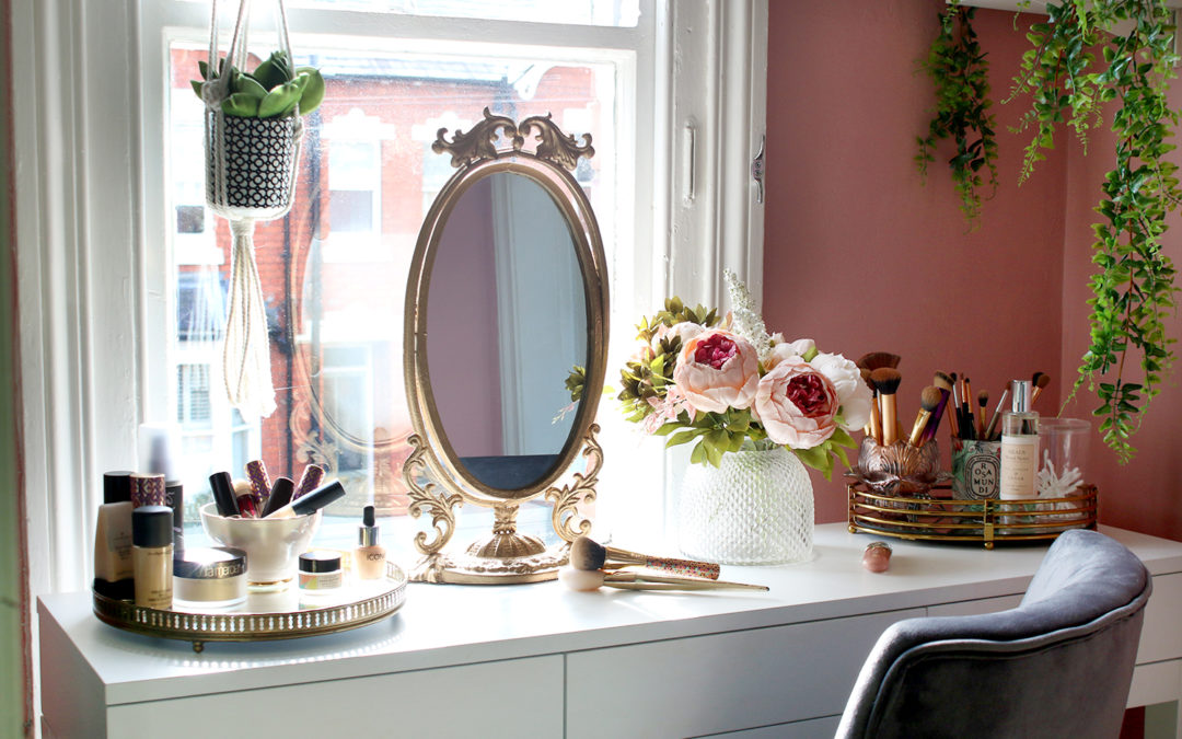 The Reveal of My Tiny Makeup Room & Vanity Space