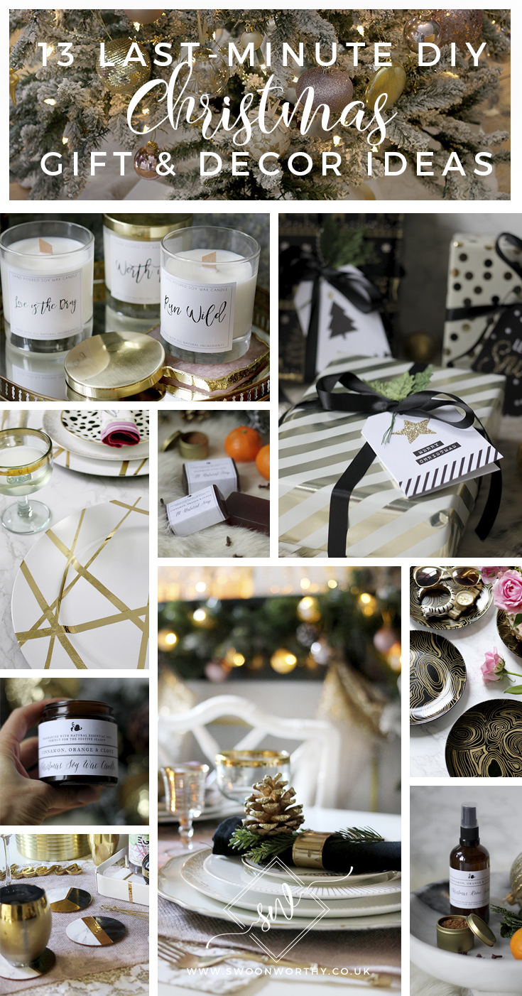 13 Last Minute DIY Christmas Decor and Gift Ideas