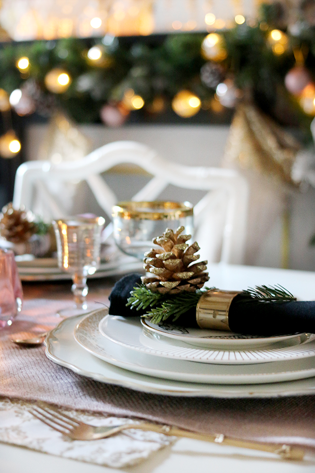 Budget Table Setting for Christmas