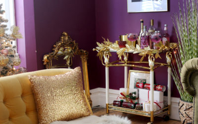 Styling a Colourful Christmas Bar Cart