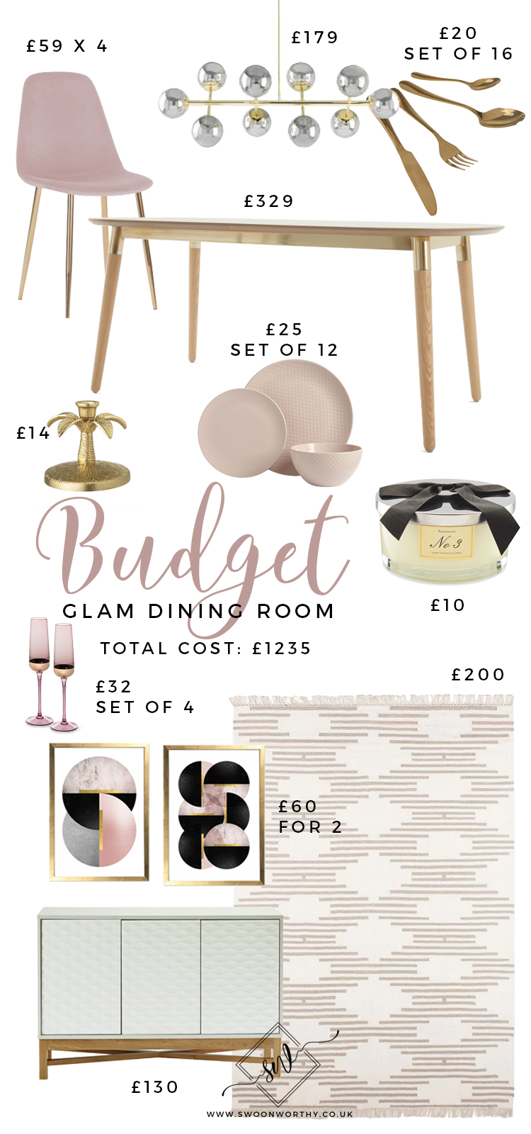 Budget Glam Dining Room 2