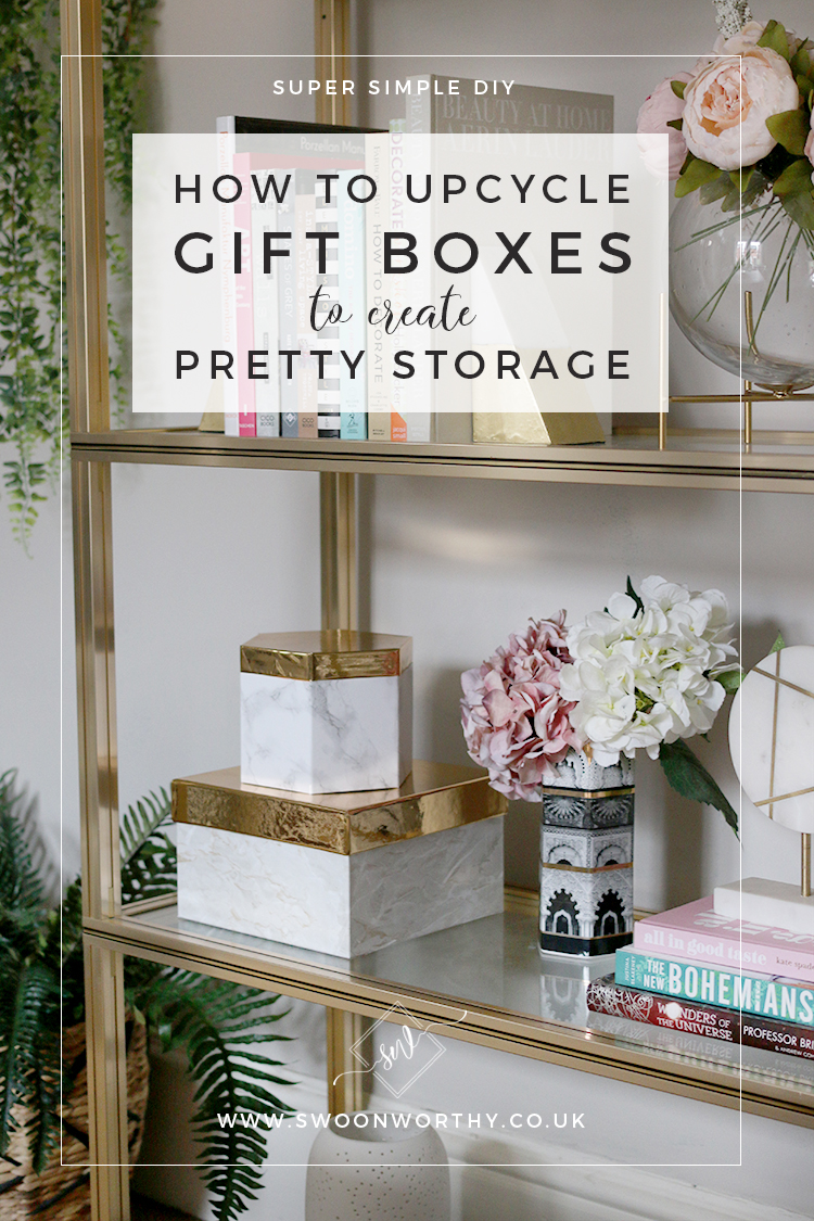 DIY - How to Upcycle Gift Boxes to Create Pretty Display Storage