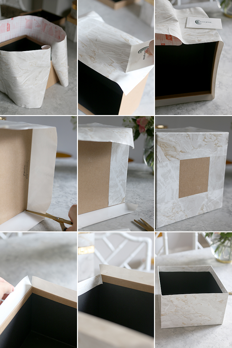 Square Box Bottom Steps - DIY Storage Box