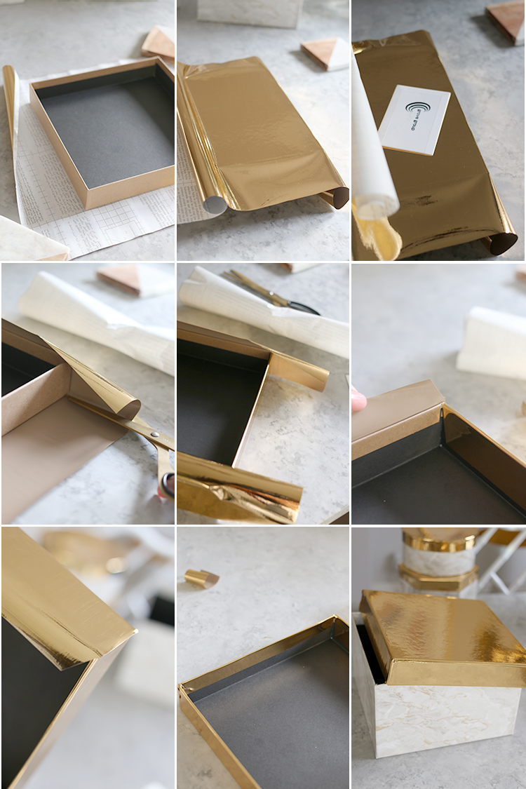 Square Box Top Steps - DIY Storage Box