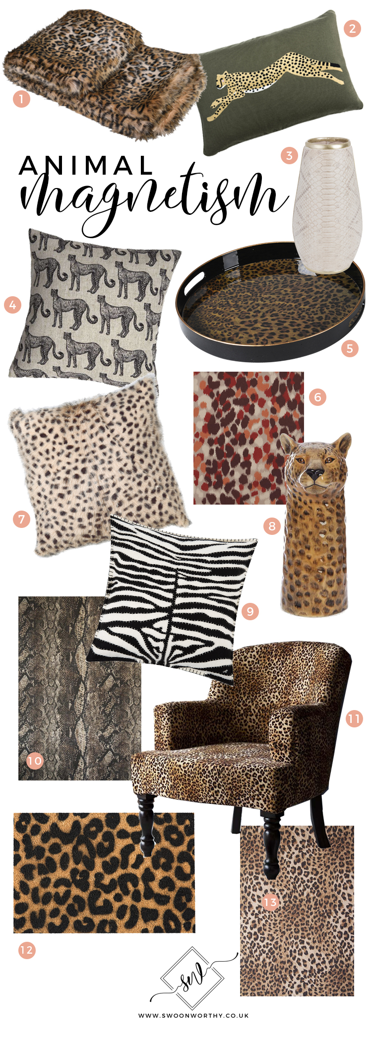 Animal Magnetism - Animal Print Homewares