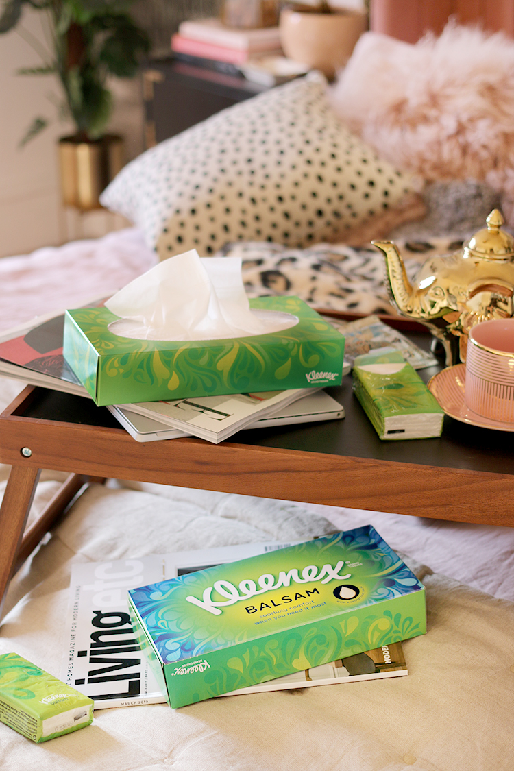 Sick Day Home Comforts: Kleenex Tissues