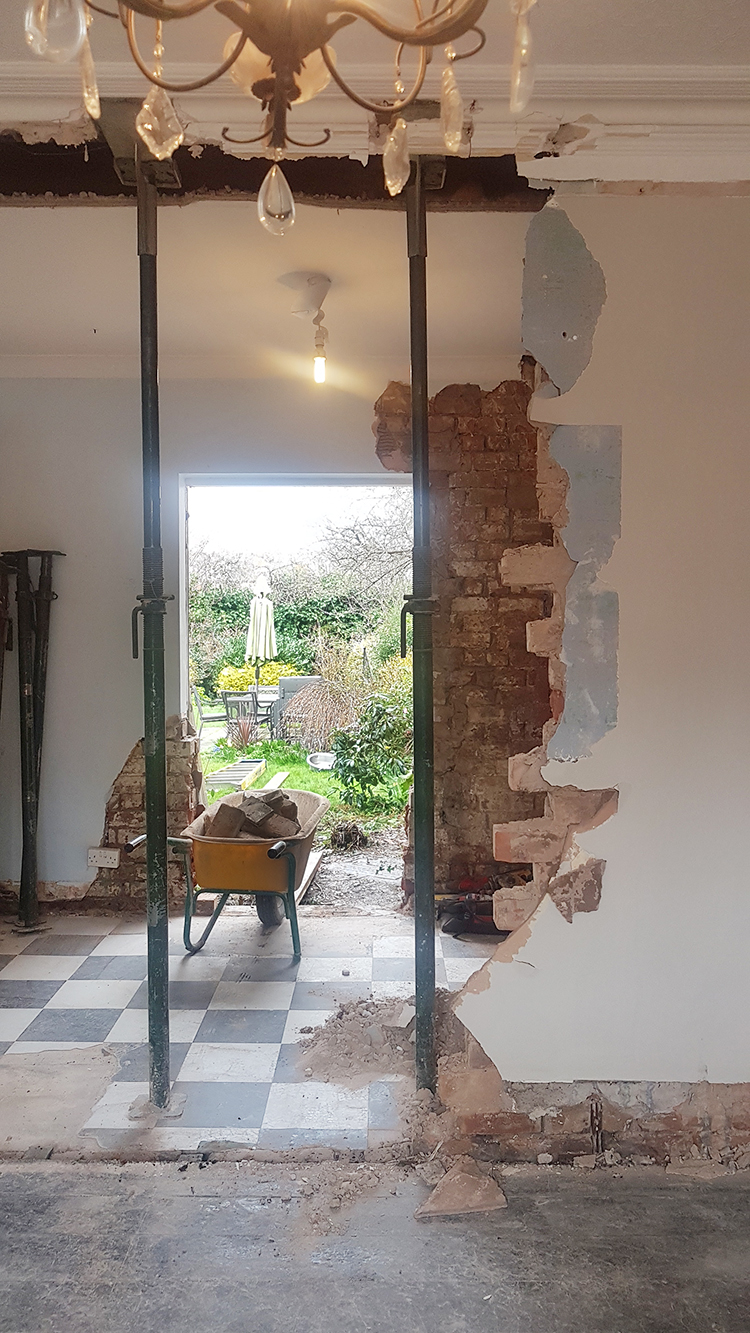 removal of dining room wall