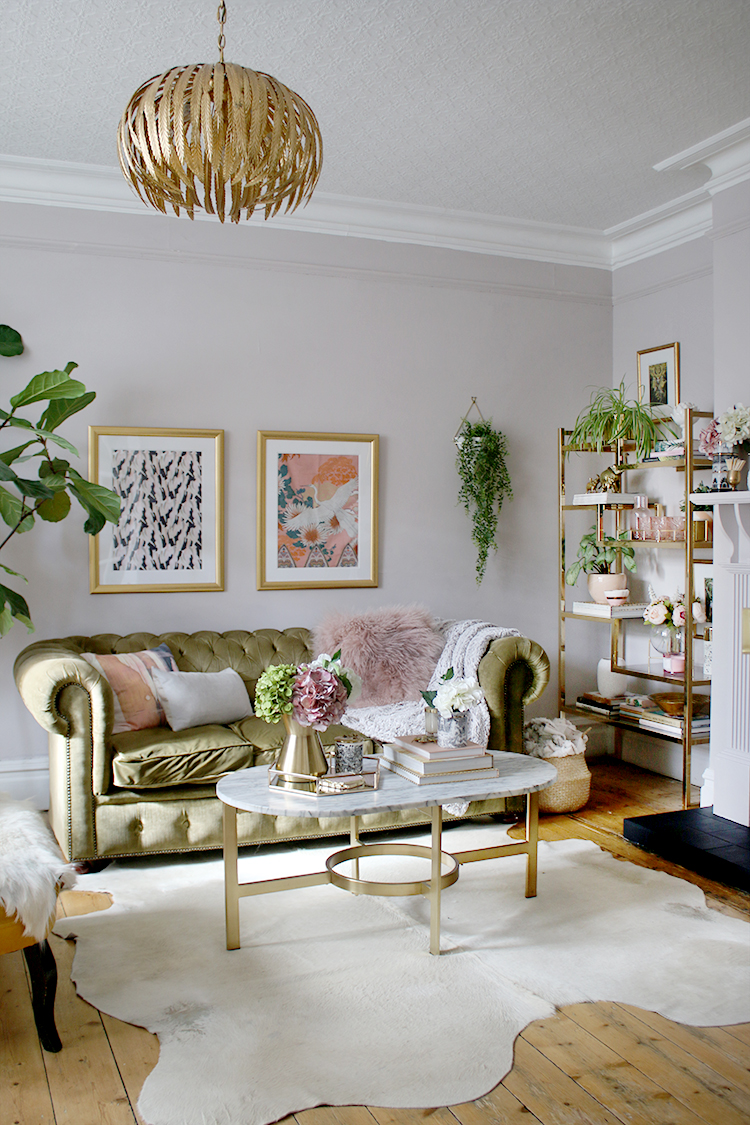 Swoon Worthy boho glam living room makeover