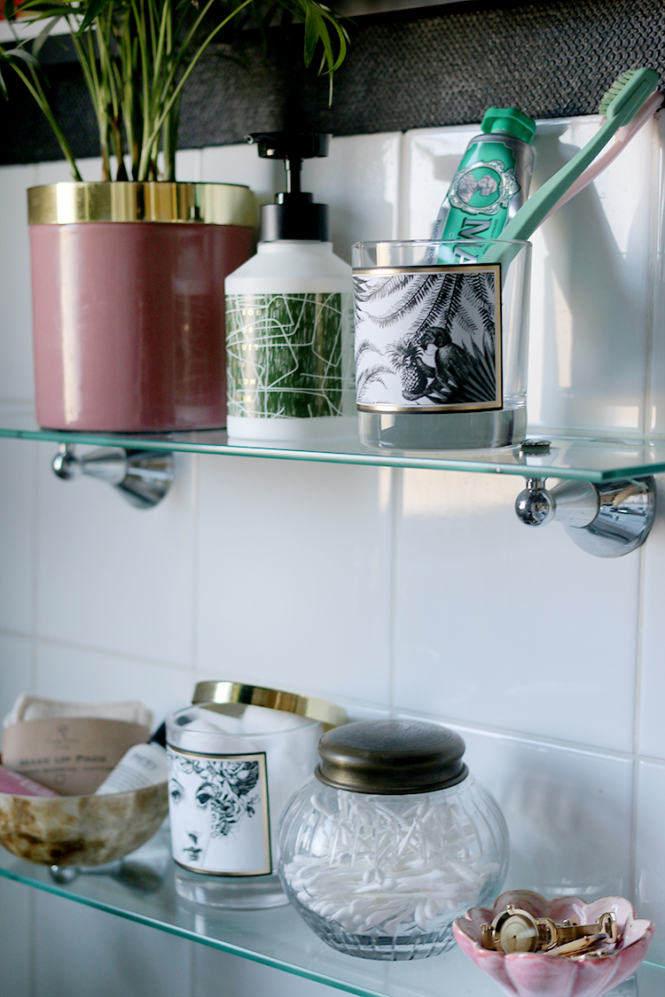 Ideas for reusing old candles - bathroom storage