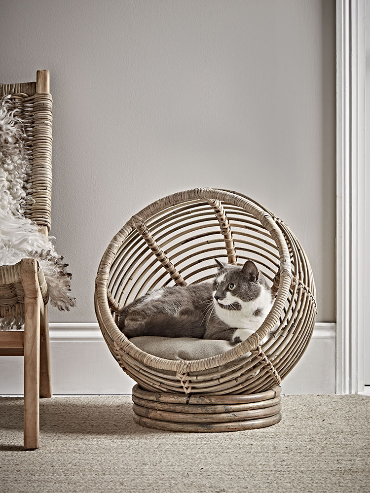 Rattan Pet Cocoon Bed by Cox & Cox