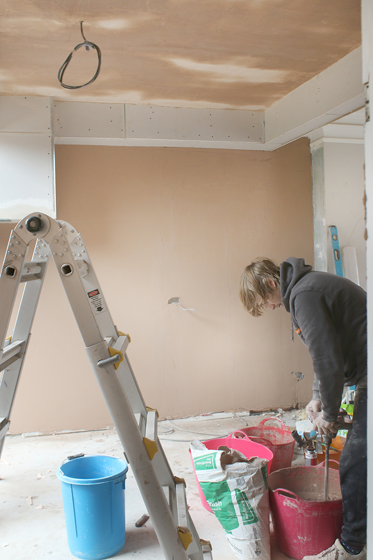 renovation diaries plastering