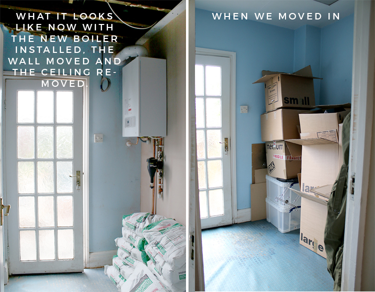Mudroom then and now