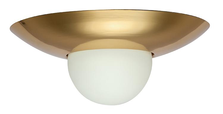 houseof 0003 Flush Dome Ceiling Light Brass