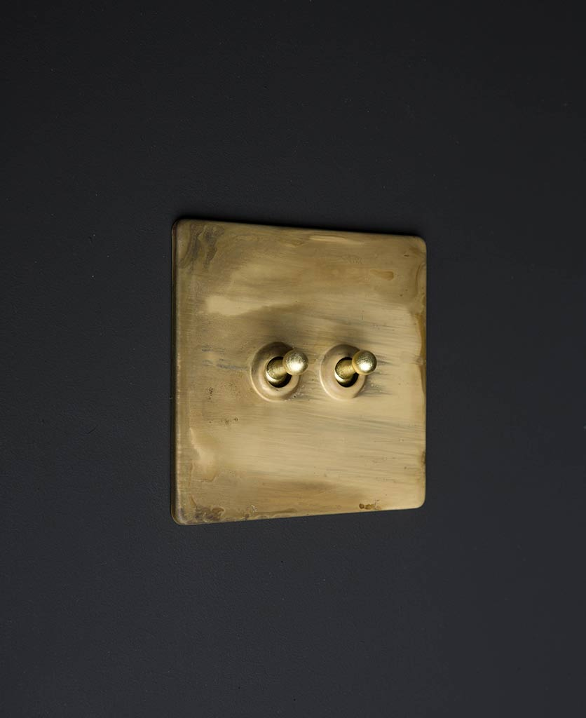 Dowsing and Reynolds smoked gold gold double toggle light switch