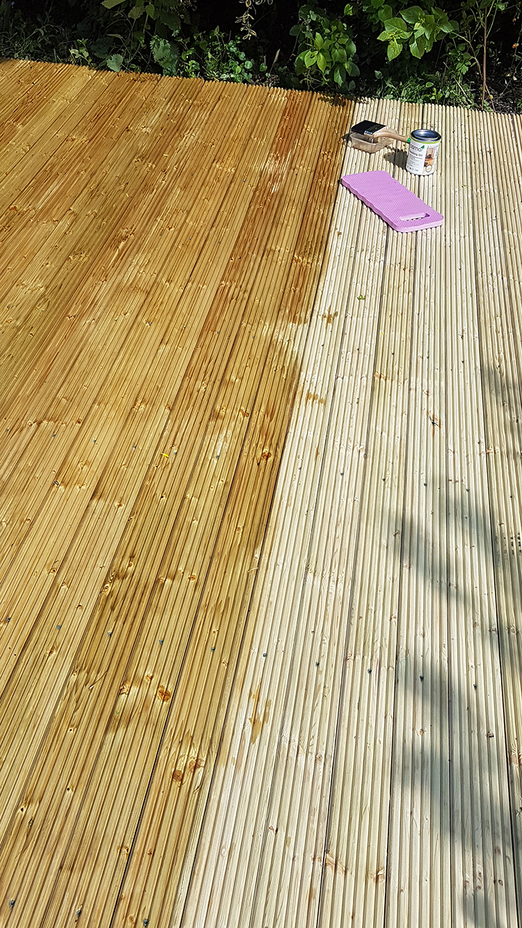 oiling a deck