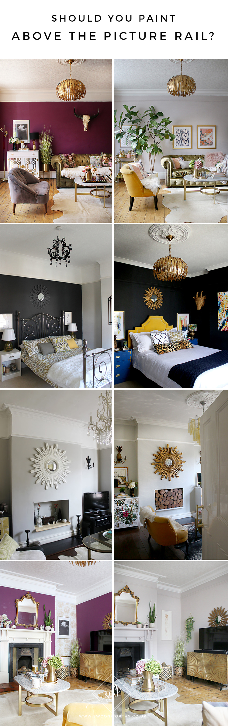 Should You Paint Above the Picture Rail Before and Afters