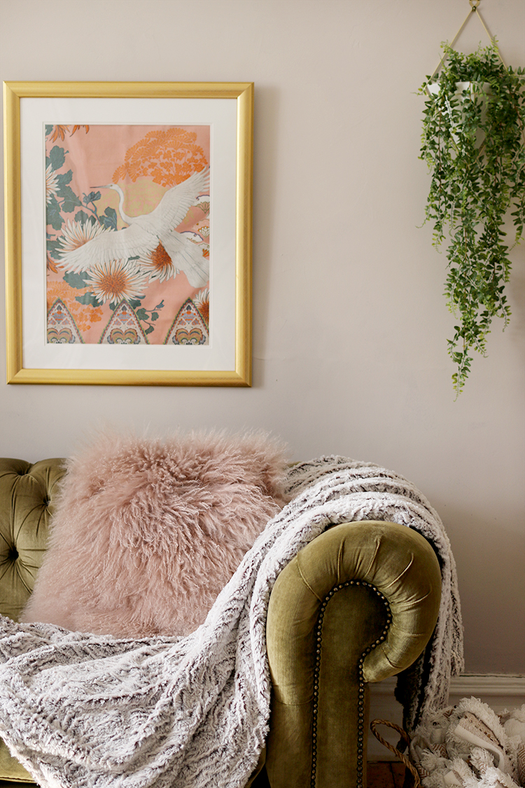 Using faux plants in wall planters