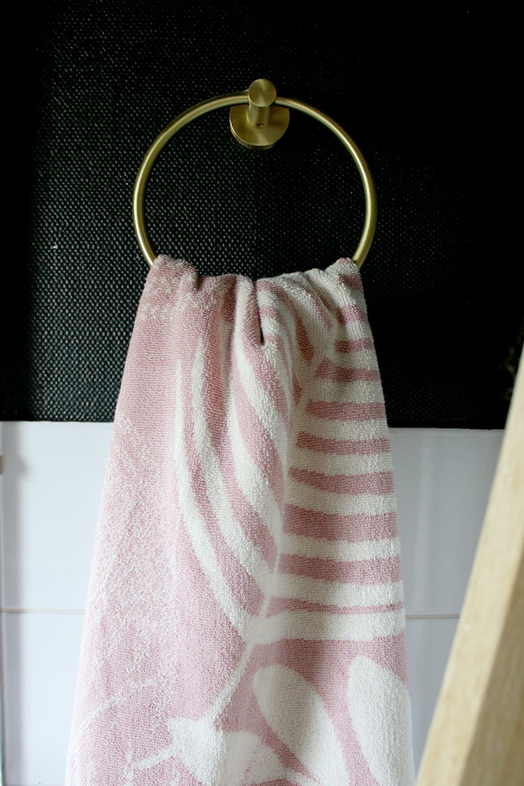 pink palm hand towel from george at asda