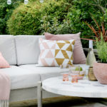 Summer Garden Reveal in Peaches and Pinks